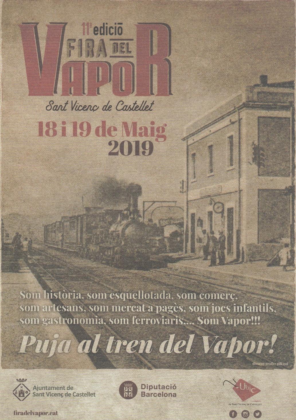 11a Edició de la Fira del Vapor. Sant Vicenç de Castellet.