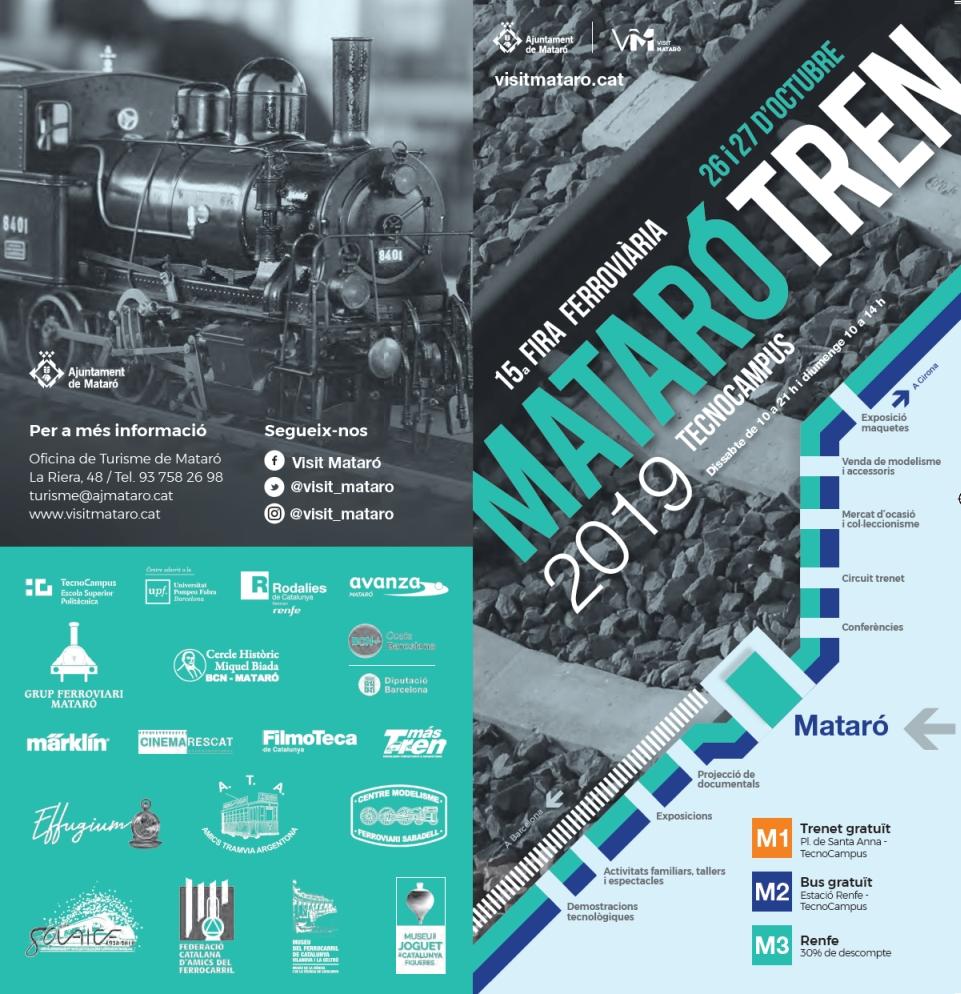 15a Fira Ferroviària MATARÓ TREN 2019. 26 i 27 d'octubre.