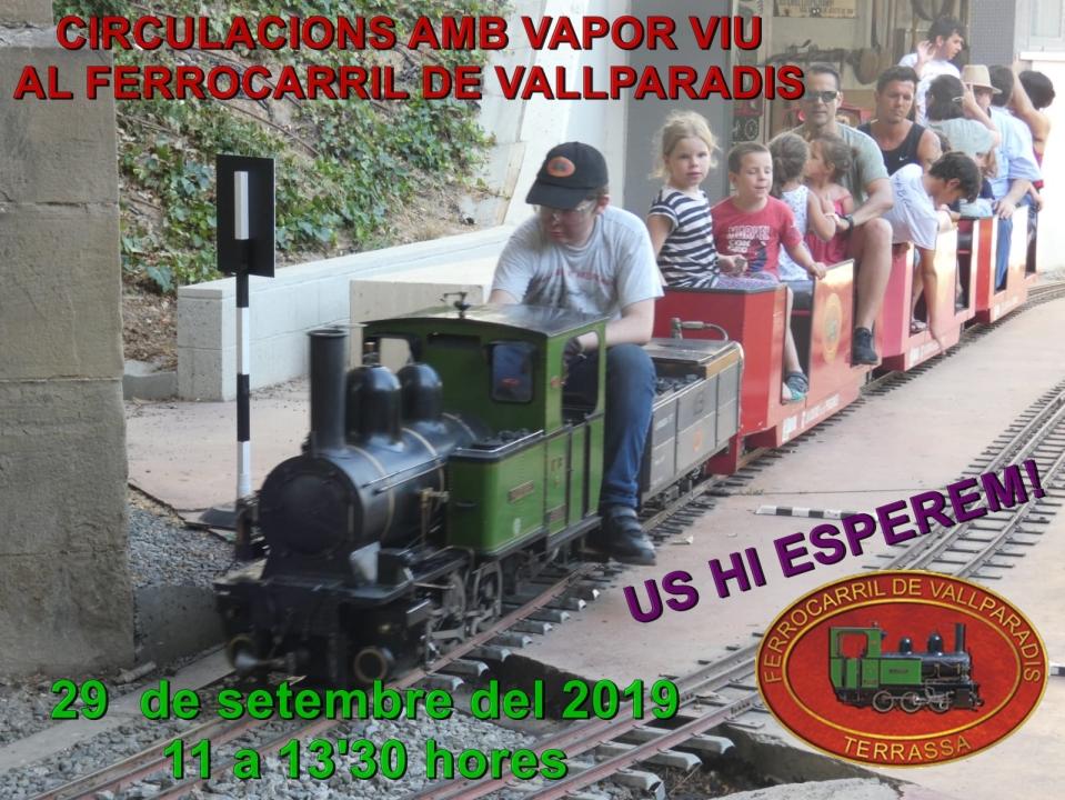 F.C. de Vallparadís – Circulacions amb vapor viu