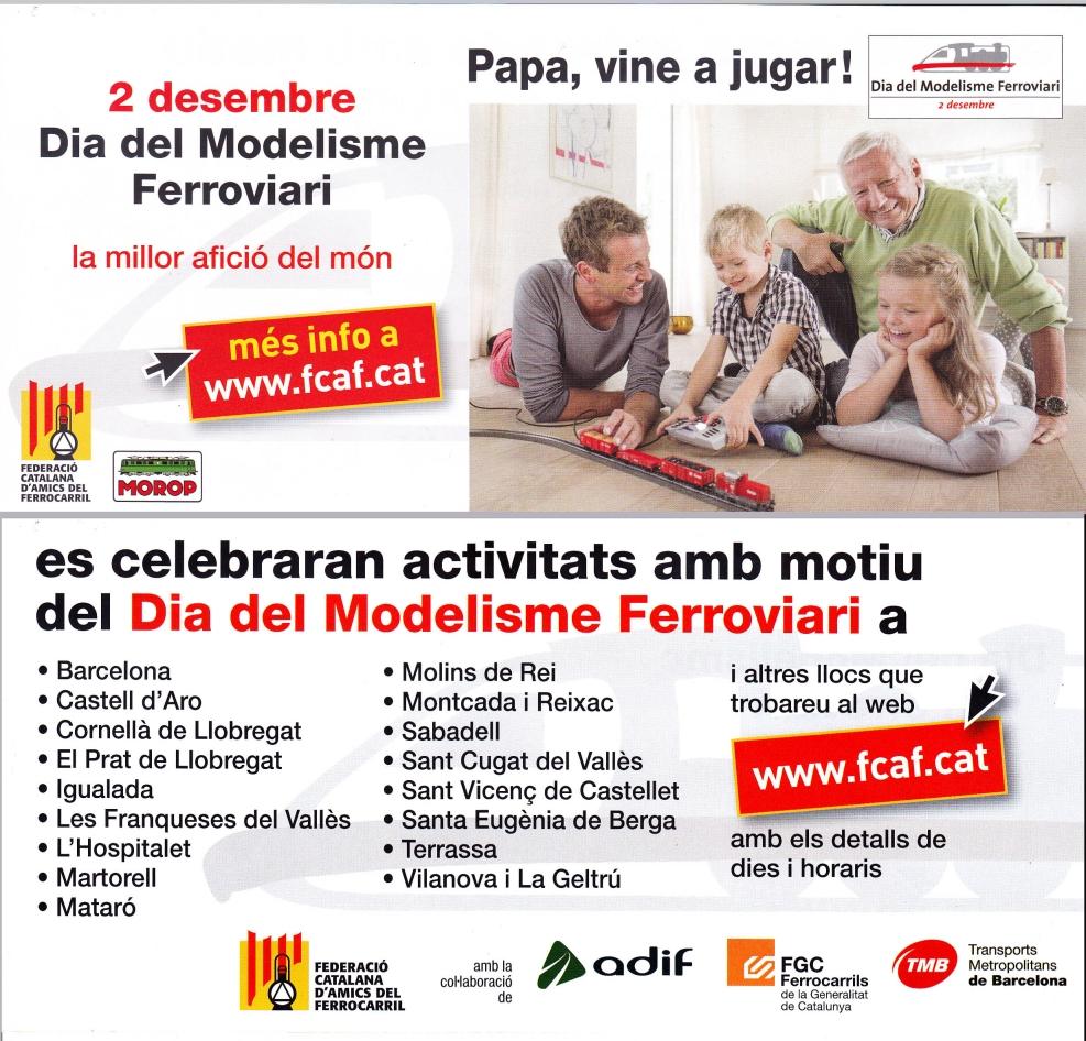 Dia Mundial del Modelisme Ferroviari: 2 de desembre  del 2019