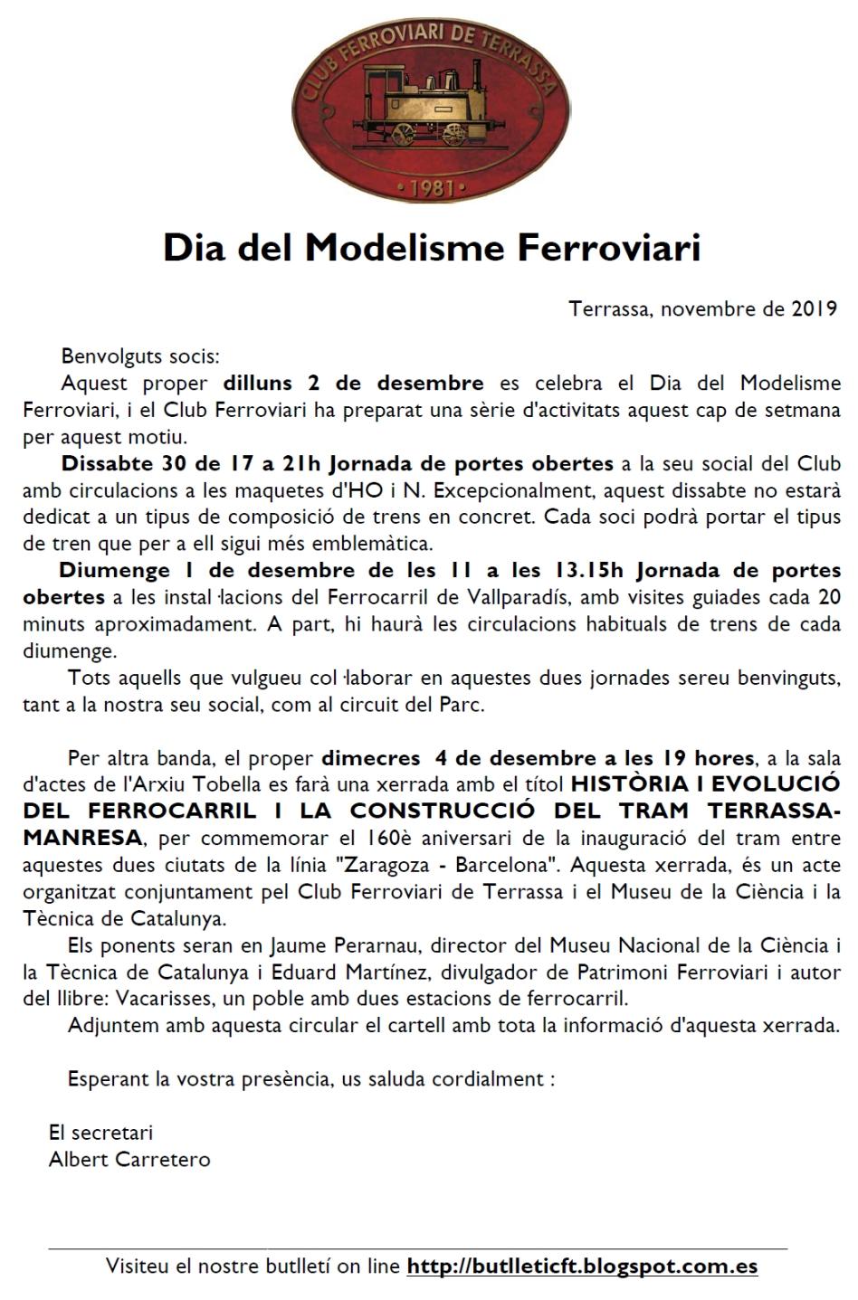 *** Dia del Modelisme Ferroviari. Club ferroviari de Terrassa