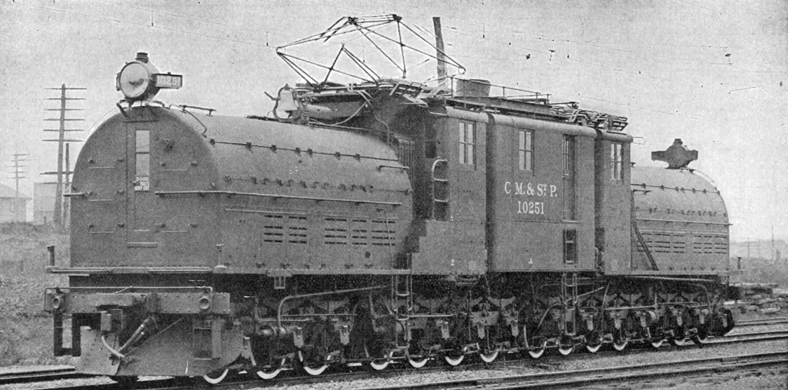 """Història de les locomotores elèctriques: Locomotora Bipolar americana """"Milwaukee Road  Clase EP-2"""". Wikipèdia"""