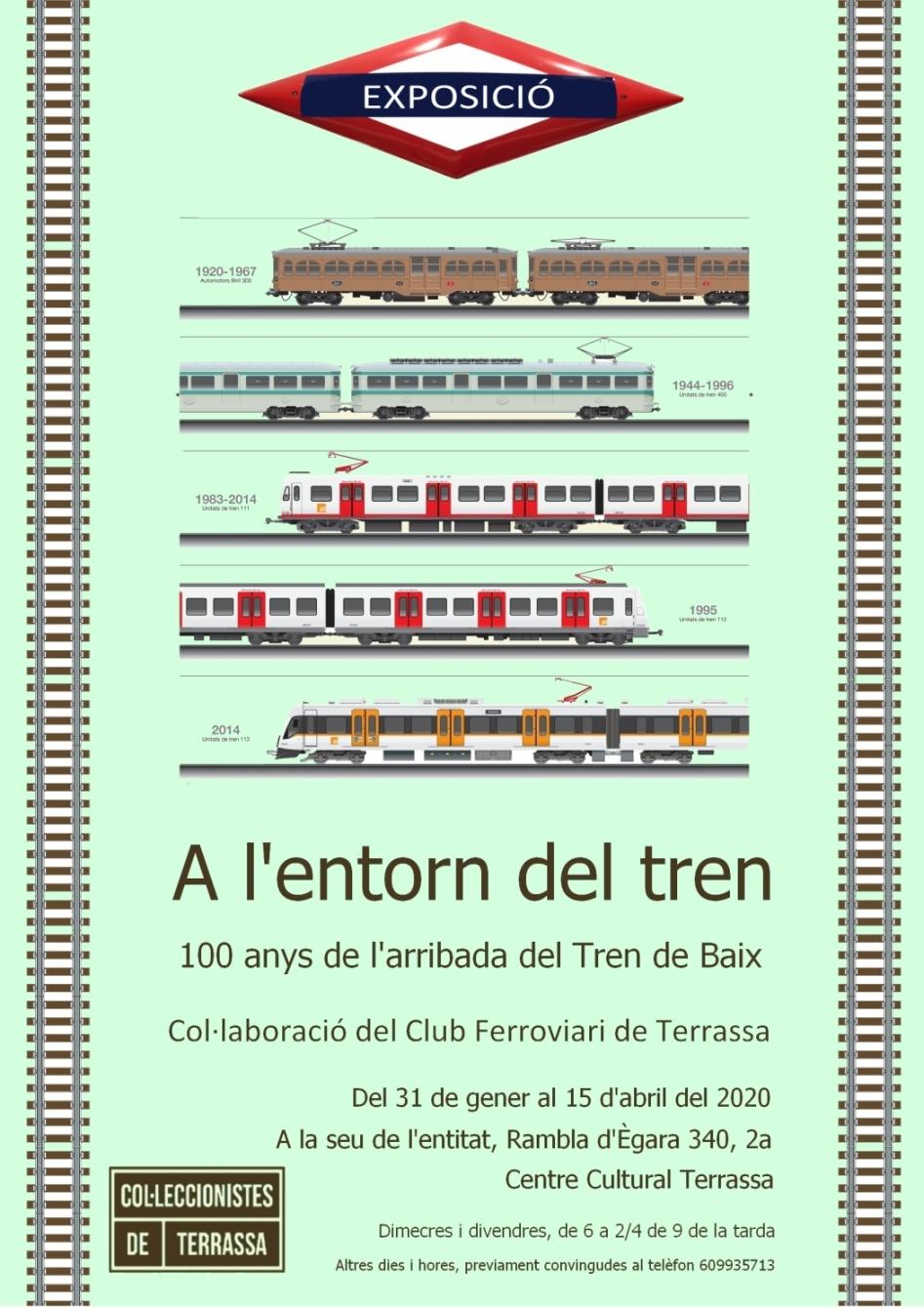 Exposició col·leccionisme ferroviari. Club Ferroviari de Terrassa