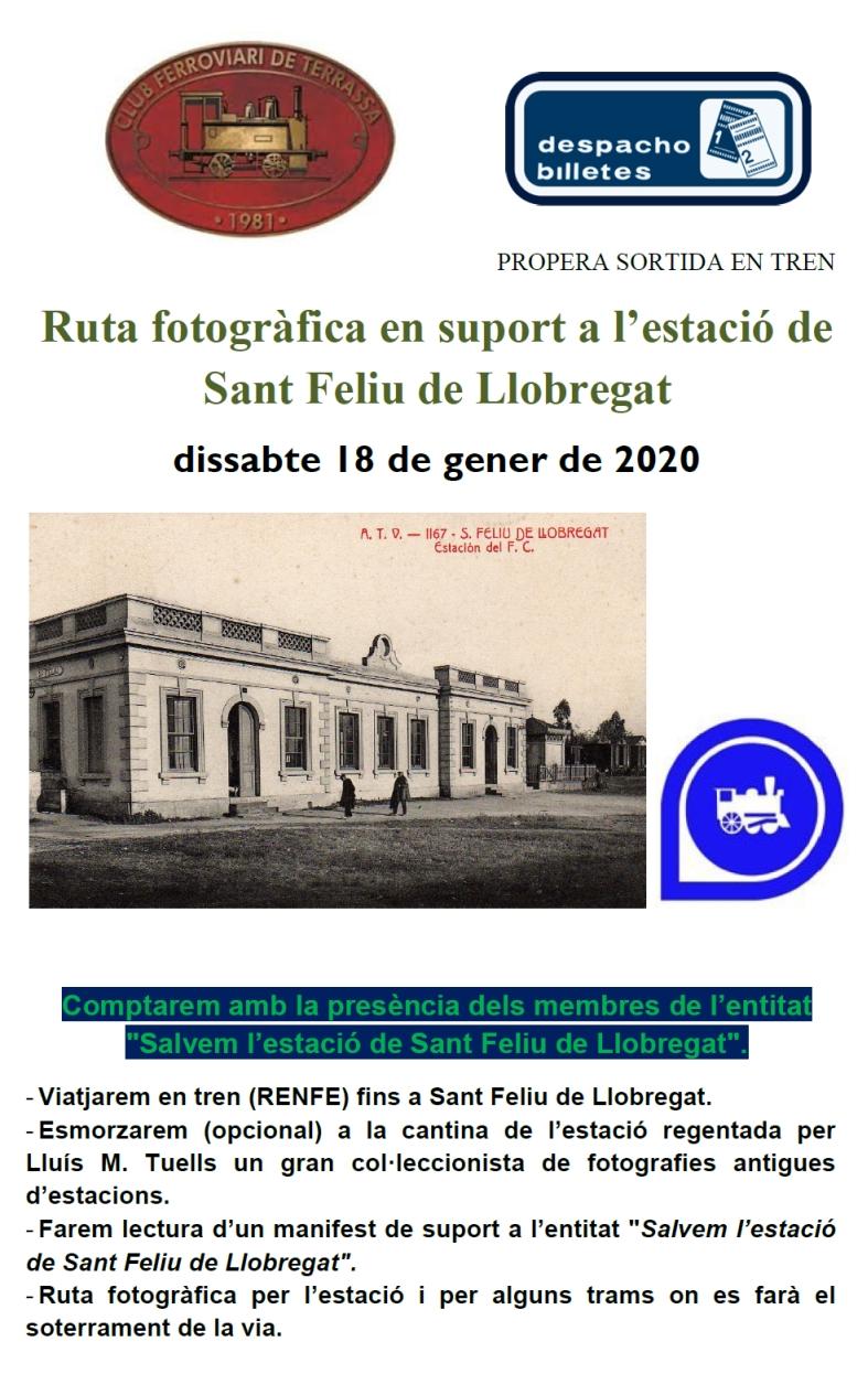 Ruta fotogràfica en suport a l'estació de Sant Feliu de Llobregat. 18-GEN-2020.