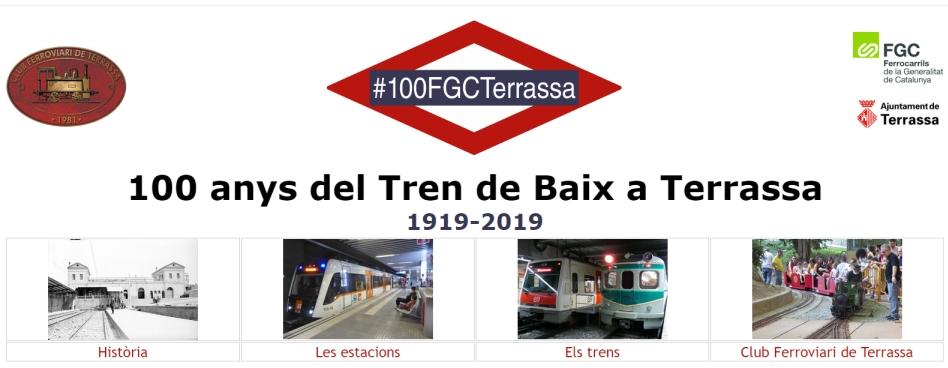 """Nou Lloc web del Centenari de l'arribada del """"Tren de Baix"""" a Terrassa. Bernat Borràs"""