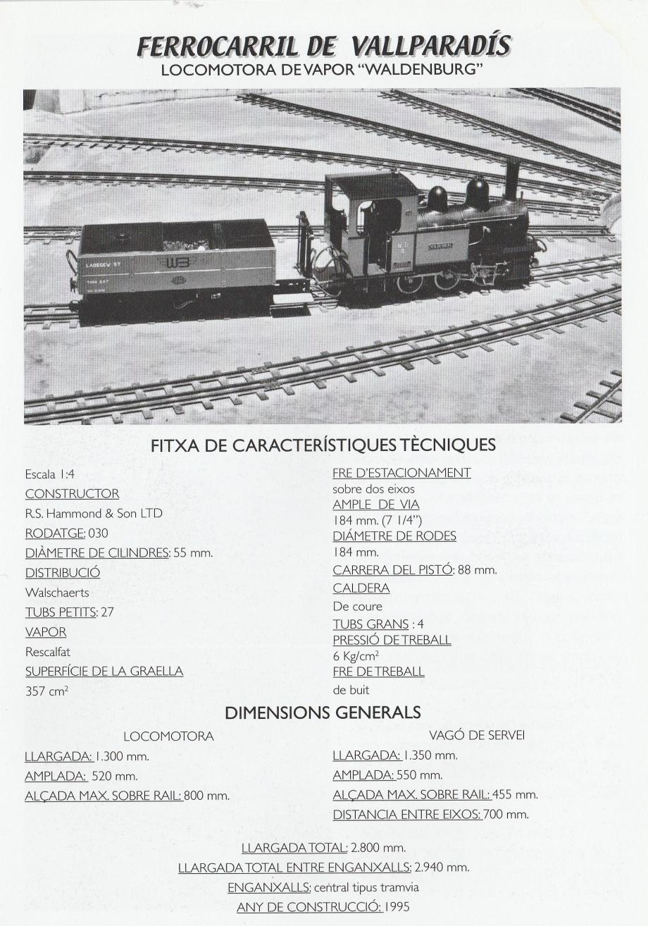 """*** La Locomotora  """"Waldenburg"""", fà  anys al  Tren de Vallparadís."""