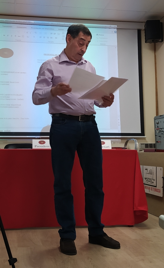 *** En Joan Artigas, nou President del Club ferroviari de Terrassa.