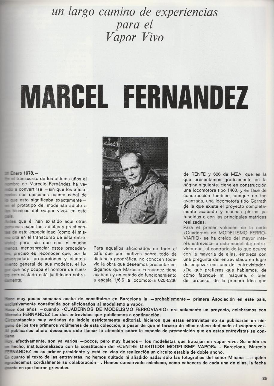 "Marcel Fernández: Modelista de ""Vapor Viu"". Entrevista i videu"