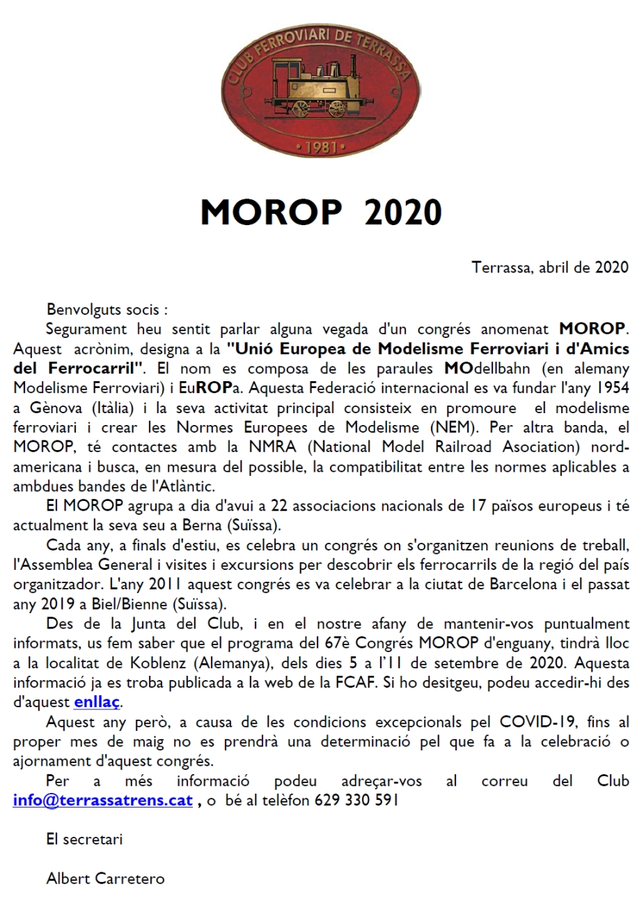 MOROP 2020