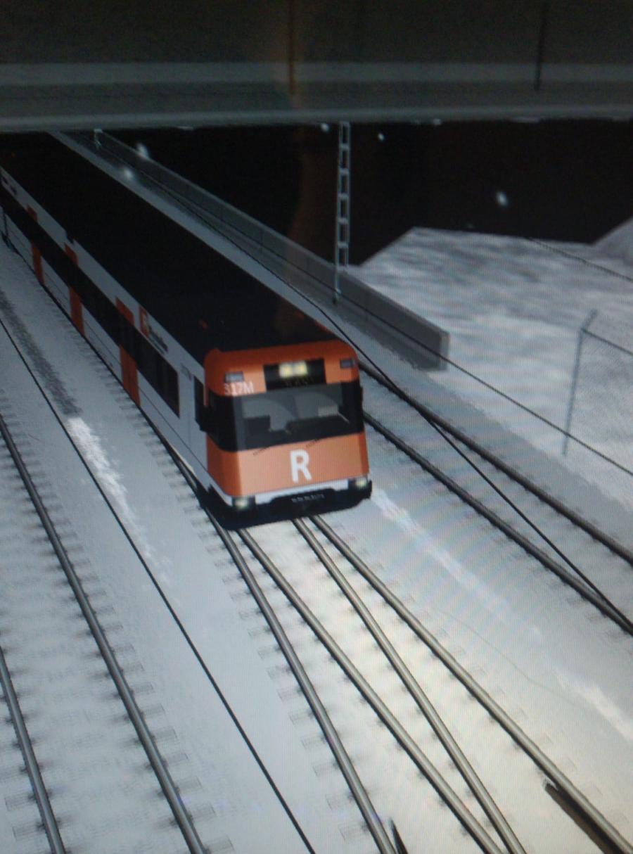 Tren de Rodalies de Catalunya. Simulació ferroviària. Pol Roig
