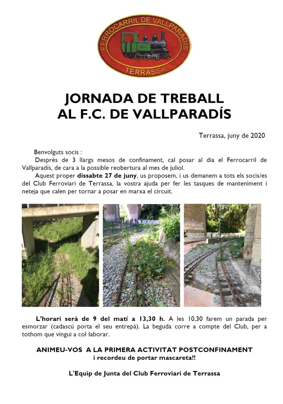 ***** Jornada de treball al F.C. Vallparadís