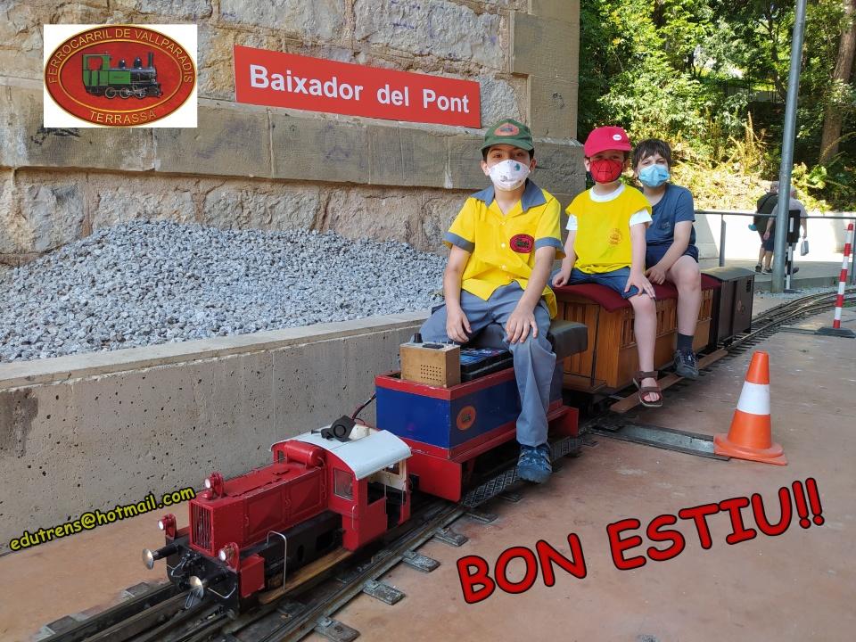 Darreres circulacions de la temporada al Tren de Vallparadís. 26-JULIOL-2020. Edu Martínez
