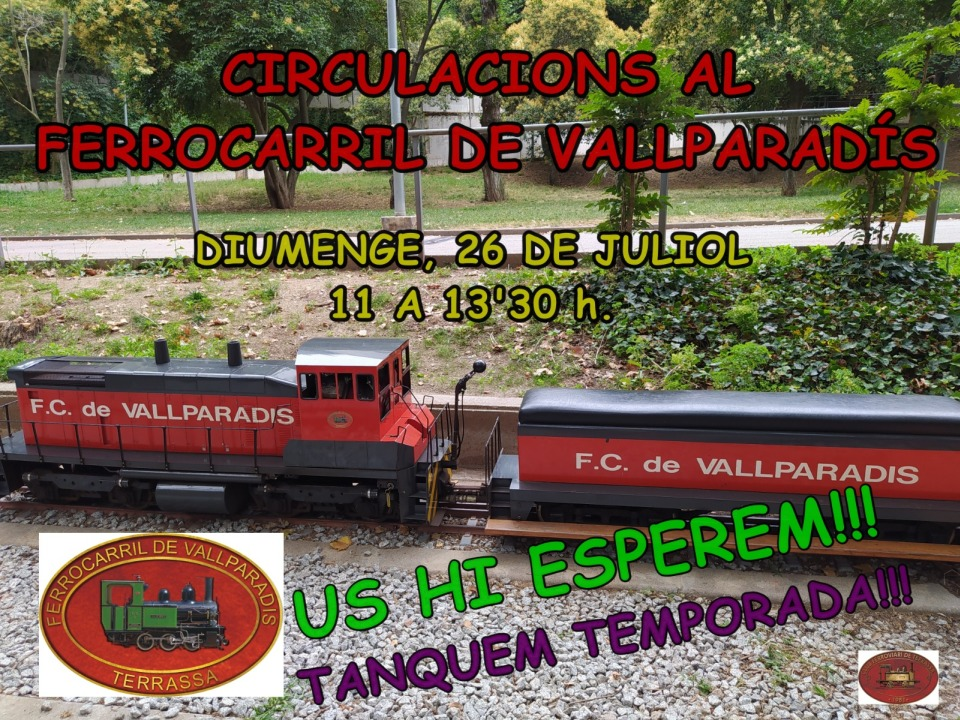 Tren de Vallparadís. 26-JULIOL-2020. Edu Martínez