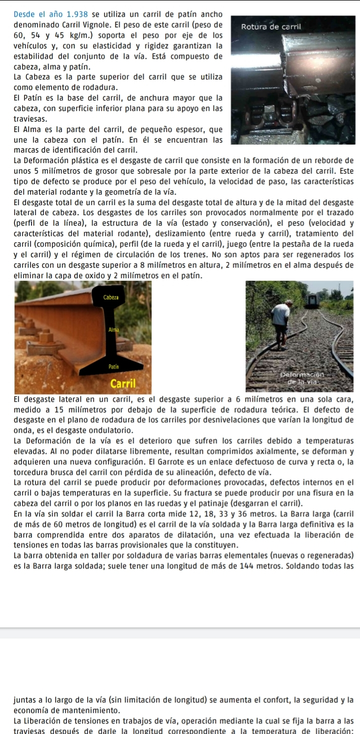 *** Manteniment de vies fèrries. Renovació de rails, toleràncies i defectes. Roberto Hernández