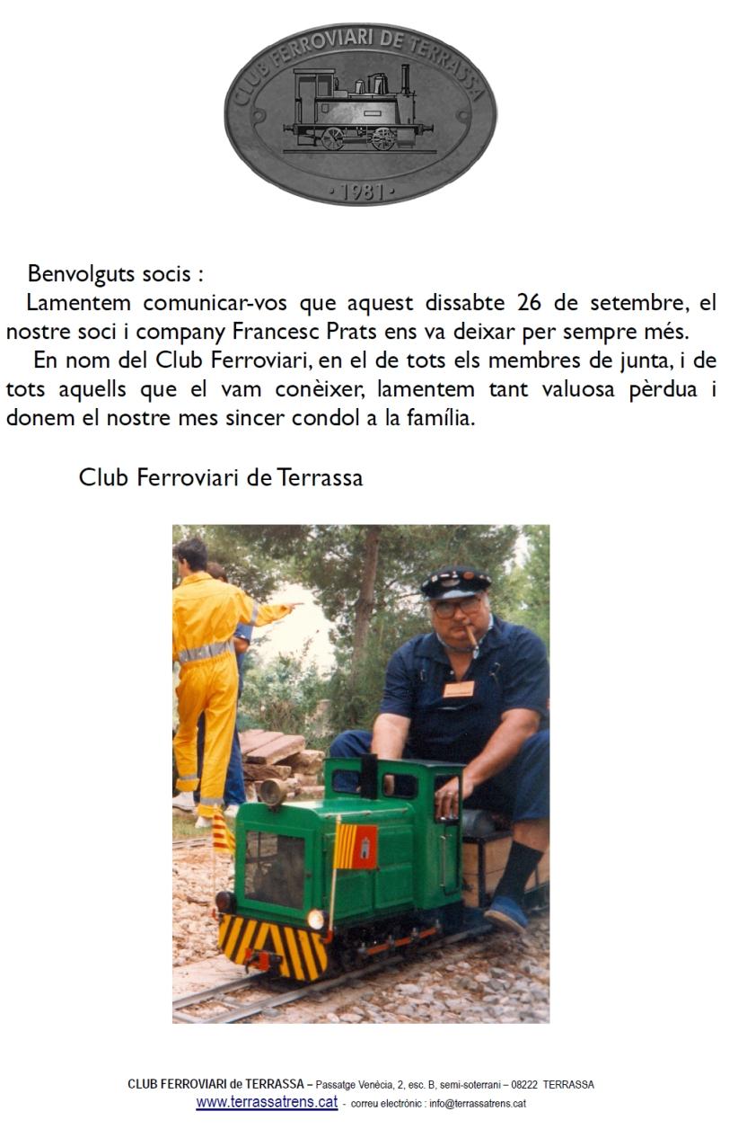 Decés d'en Francesc Prats